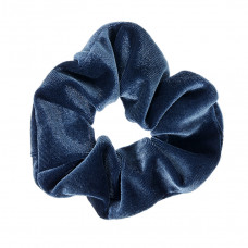 Blå scrunchie i velour