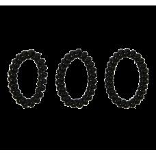 Sorte spiralelastikker, Ø 7 cm, 3 stk.