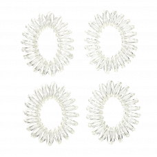Transparente spiralelastikker, Ø 4 cm, 4 stk.