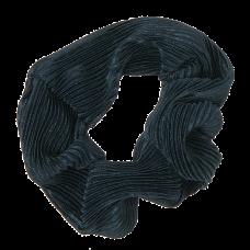 Petroleumsblå scrunchie i crepe satin