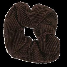 Brun scrunchie i crepe satin