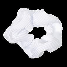Hvid scrunchie i crepe satin