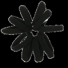 Sorte elastikker, Ø 5 cm, 10 stk.