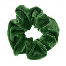 Græsgrøn scrunchie i velour