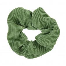 Græsgrøn scrunchie i crepe satin