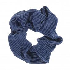 Havblå scrunchie i crepe satin