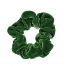 Græsgrøn scrunchie i velour, lille