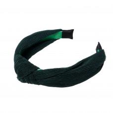 Mørkegrøn hårbøjle i crepe satin