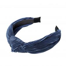 Havblå hårbøjle i crepe satin
