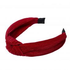 Rød hårbøjle i crepe satin