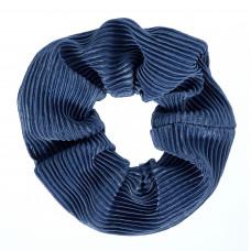 Blå scrunchie i crepe satin