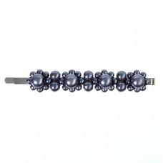 Blå hårnål med perler, 8,7 cm