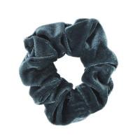 Petroleumsblå scrunchie i velour