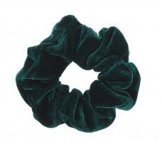 Mørkegrøn scrunchie i velour