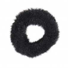 Sort elastik med fake fur