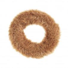 Brun elastik med fake fur