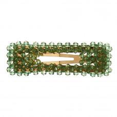 Grønt hårspænde 7,5 cm