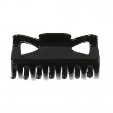 Sort hårklemme, 6 cm