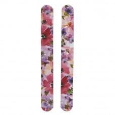 Neglefile i sandpapir med blomster, 2 stk.
